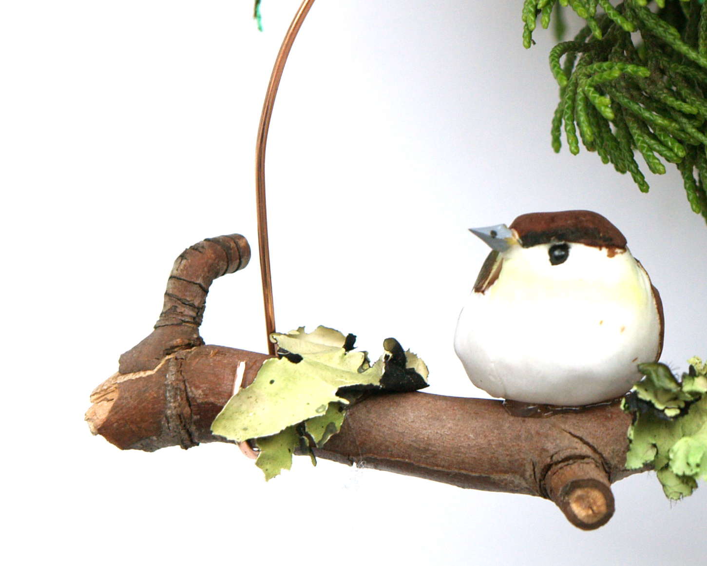 diy woodland bird ornament. Black Bedroom Furniture Sets. Home Design Ideas