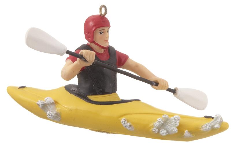 Whitewater Kayak Christmas Ornament - Kayak