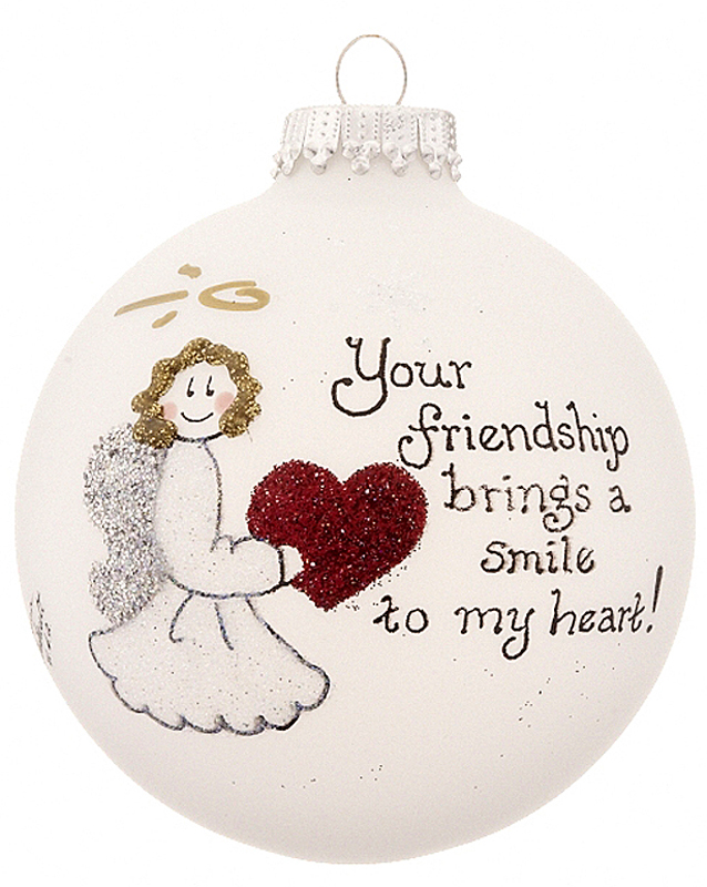 Friendship Heart Christmas Ornament - His and Hers