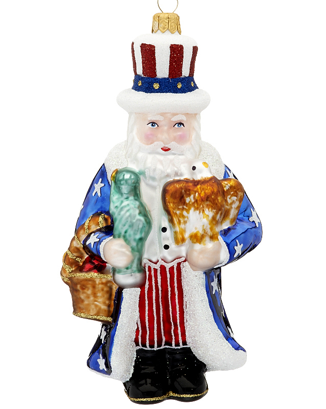 American santa christmas ornament santa for American christmas decorations