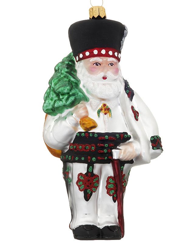 Polish santa christmas ornament