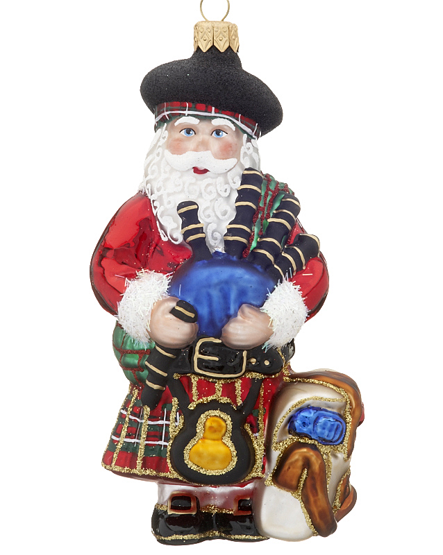 Scottish Santa Christmas Ornament Santa
