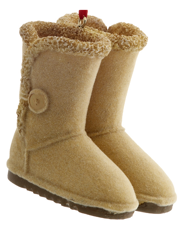 Ugg Boots Tan Bailey Button Style Christmas Ornament