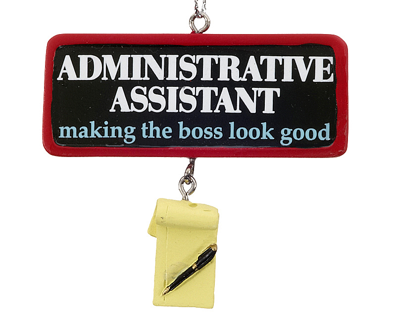 Administrative Assistant Christmas Ornament - Business