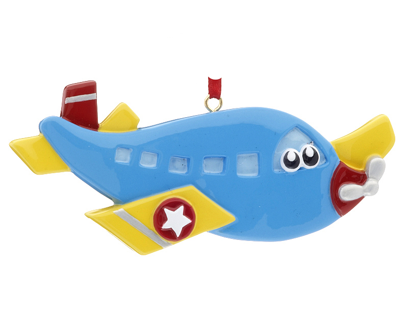 Airplane with eyes christmas ornament kids