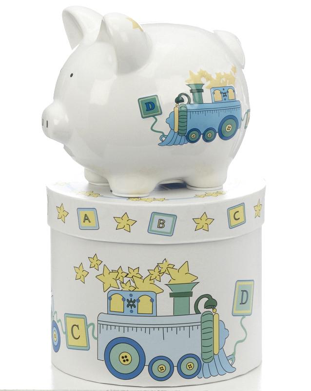 Mini duck train piggy bank - Train piggy banks ...