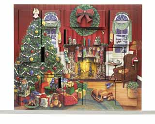 Fireside Scene Advent Box