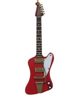 Red Isolated Electric Guitar