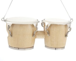 Ornaments for Christmas Trees: Bongo Drums Christmas Ornament