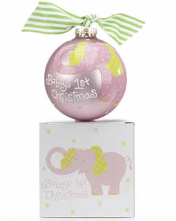 Baby's 1st Christmas - Pink Elephant