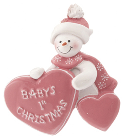 Baby's 1st Christmas with Heart Girl