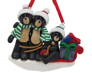 Black Bear Family Sled 3