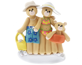 Beach Bear Family of 3