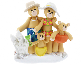 Beach Bear Family of 4