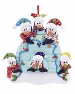 Igloo Penguin Family of 6
