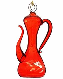 Red Tall Teapot Shape