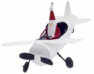 Santa in Airplane COGB12004