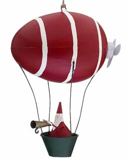 Santa in Balloon with Propeller