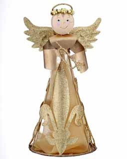 Angel Figurine - Gold Trumpet