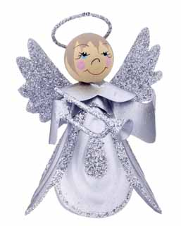Mini Scallop Angel - Silver Trumpet