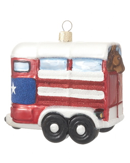 Horse Trailer (white/red)