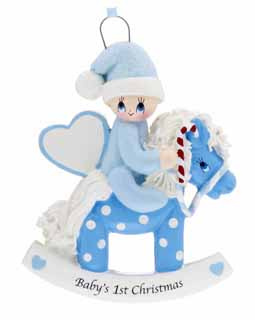 Baby's 1st Christmas Rocking Horse Blue