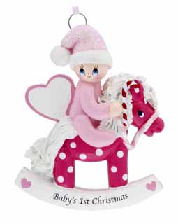 Baby's 1st Christmas Rocking Horse Pink