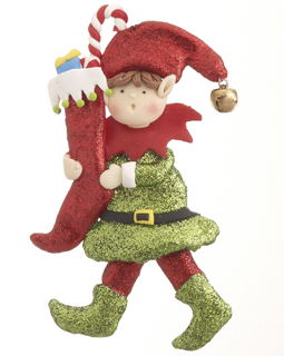 Elf with Stocking