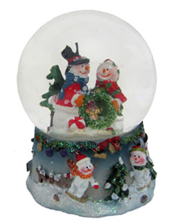 Small Snowman Snow Globe - Couple
