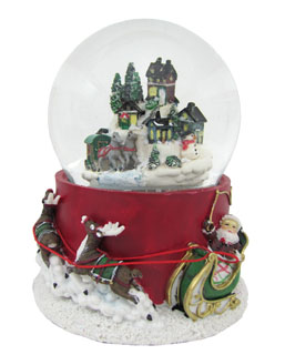 Large Village Snow Globe