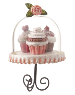Cupcake Trio - Pink, Red, Brown