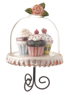 Cupcake Trio - Pink, Blue, Green