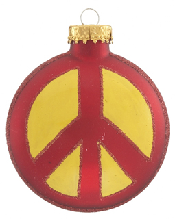 Peace Sign - Red and Yellow