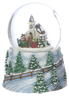 Large Snow Globe - Church