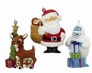 Rudolph, Santa & Abominable Snowman Set of 3