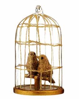Gold Birds in Glass Cage COKA12127
