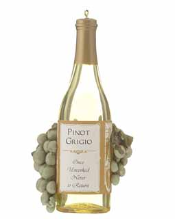 Pinot Grigio Wine Bottle with Grapes