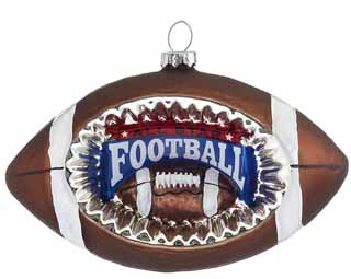 Concave Reflector Glass Football Ornament
