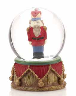 Mini Nutcracker Snow Globe