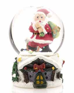 Mini Santa Holding a Sack of Presents Snow Globe