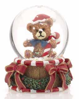 Mini Teddy Bear Snow Globe