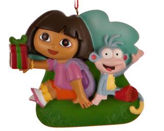 Ornaments for Christmas Trees: Dora Christmas Ornament