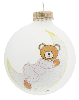 Baby Bear on Moon Pink