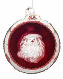 Ornament in an Ornament - Santa