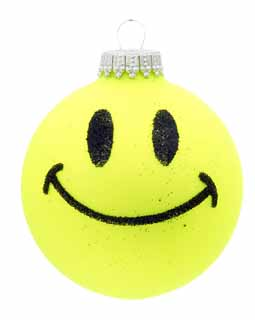 Neon Smiley Face - Yellow