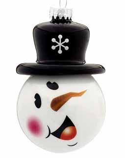 Snowman Face with Black Top Hat