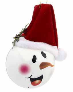 Snowman Happy Face with Stocking Cap