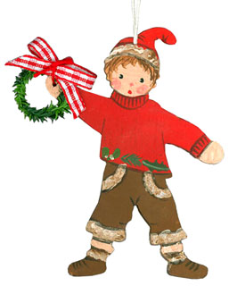 Boy Red with Garland