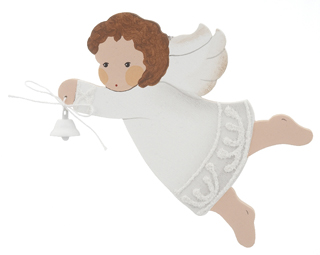 White Angel with Bell