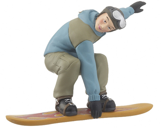 Snowboarder Boy - Blue Jacket